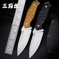 Sanrenmu S718 Feststehende Messer Mit K Mantel 12C27 Klinge G10 Griff Outdoor Professionelle Dschungel Werkzeug Überleben Taktische Jagd Messer