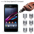3 Pcs/Lot 2.5D 0.26mm 9H Premium Tempered Glass Screen Protector For Sony Xperia Z1 Compact protective film For Sony Z1 Mini