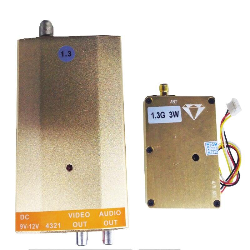3W 1.3G Wireless cctv transceiver 1.3G Video Audio Transmitter image transmission sender video drone transmitter FPV transmitter