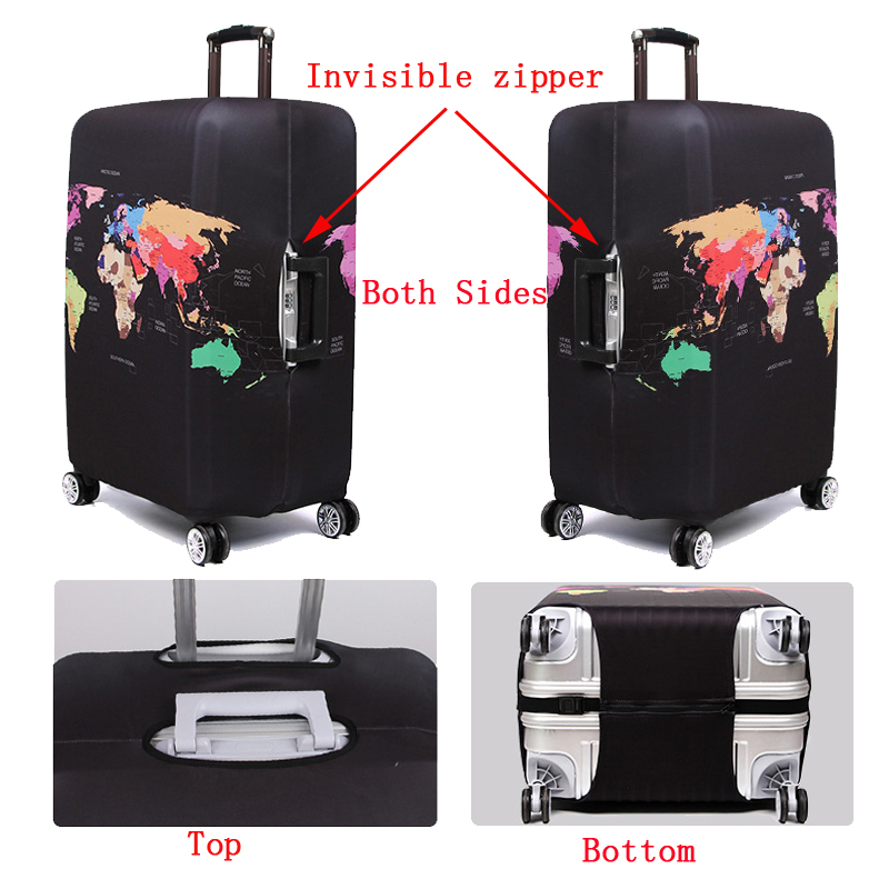 World Map Travel Luggage Suitcase 3