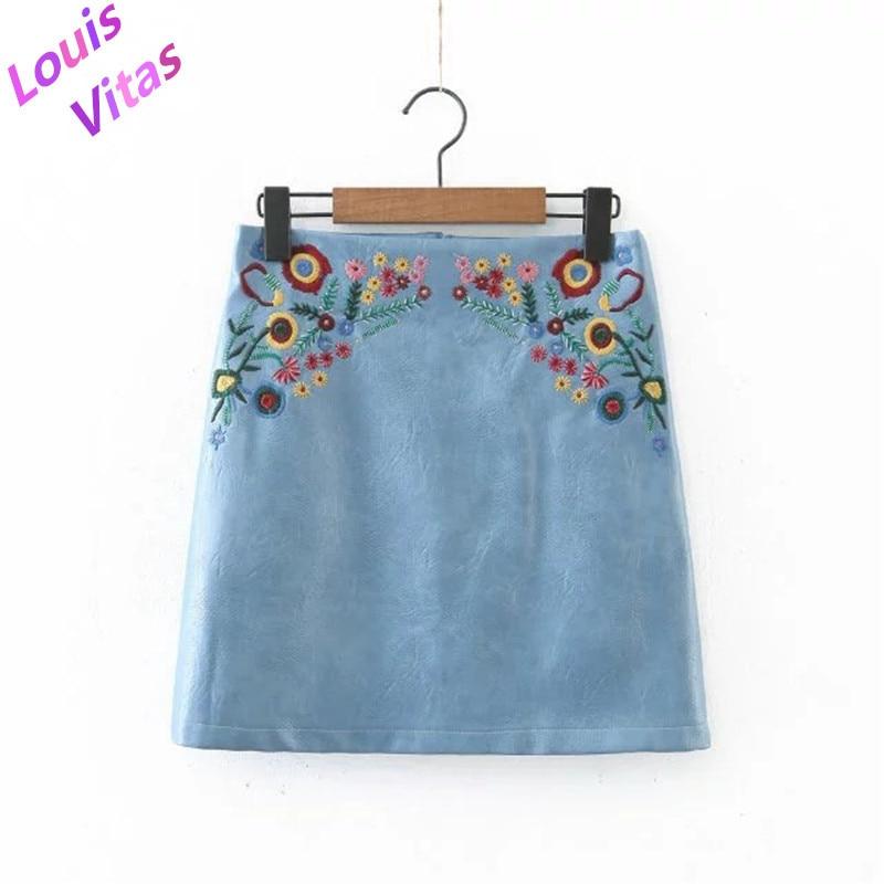 Вышивка для юбки цветы