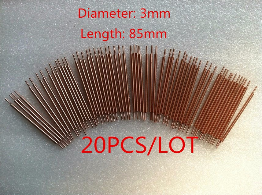3x100mm copper welder spot welding pin welding alumina welding feet accessories