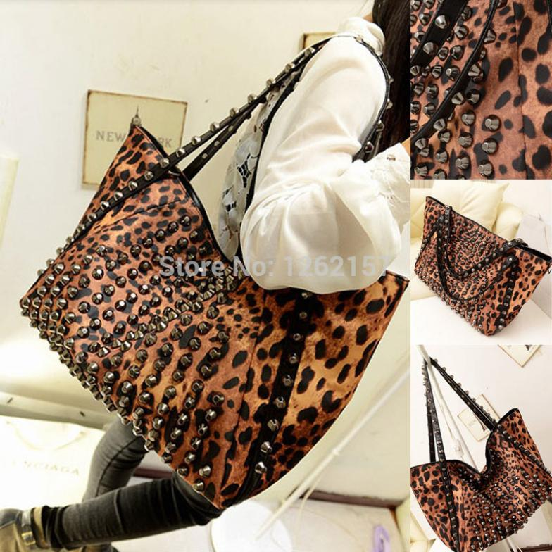 Aliexpress.com : Buy 2014 fashion Black Rivet Women's Leopard ...