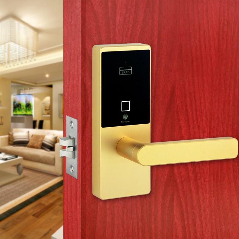 Smart Keyless Biometric Fingerprint Door Lock Intelligent Security Electronic Door Locks intelligent zinc alloy multifunction home security door locks electronic smart lock