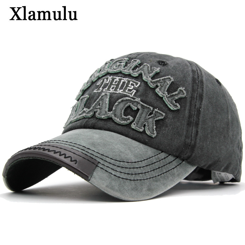 Xlamulu Hot Retro Baseball Caps Hats For Men Casquette Brand Women Snapback Caps Washed Bone Men Hat Gorras Letter Black Cap aetrue brand fashion women baseball cap men snapback caps casquette bone hats for men solid casual plain flat gorras blank hat