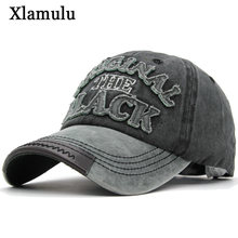 Xlamulu Hot Retro Baseball Caps Hats For Men Casquette Brand Women Snapback Caps Washed Bone Men Hat Gorras Letter Black Cap(China)