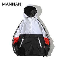 MANNAN куртка Modis толстовки для мужчин в стиле пэтчворк и КолорБлок пуловер зима спортивный костюм повседневное пальто уличная