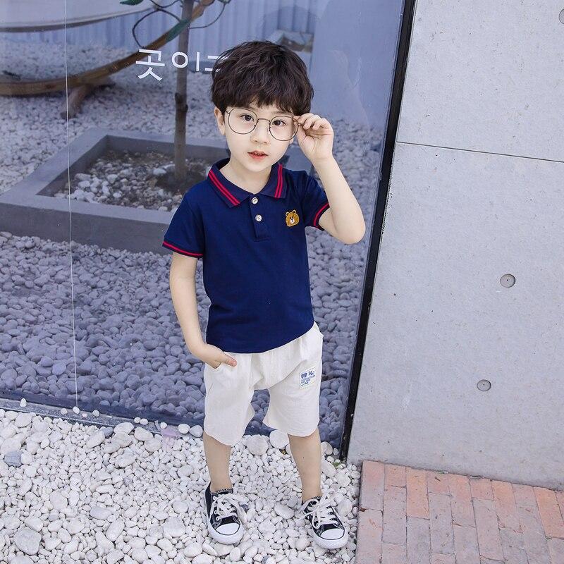 New summer kids clothing short sleeve+pants boys Children cartoon cotton Cloth Sets For Clothing