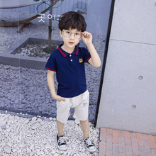 New summer kids clothing short sleeve+pants boys Children cartoon cotton Cloth Sets For boys Clothing цены