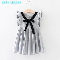 Bear Leader Princess Dress Girl Costume 2017 Brand Girls Dress Children Sleeveless Bow Straight Kids Dresses for Girls Clothes