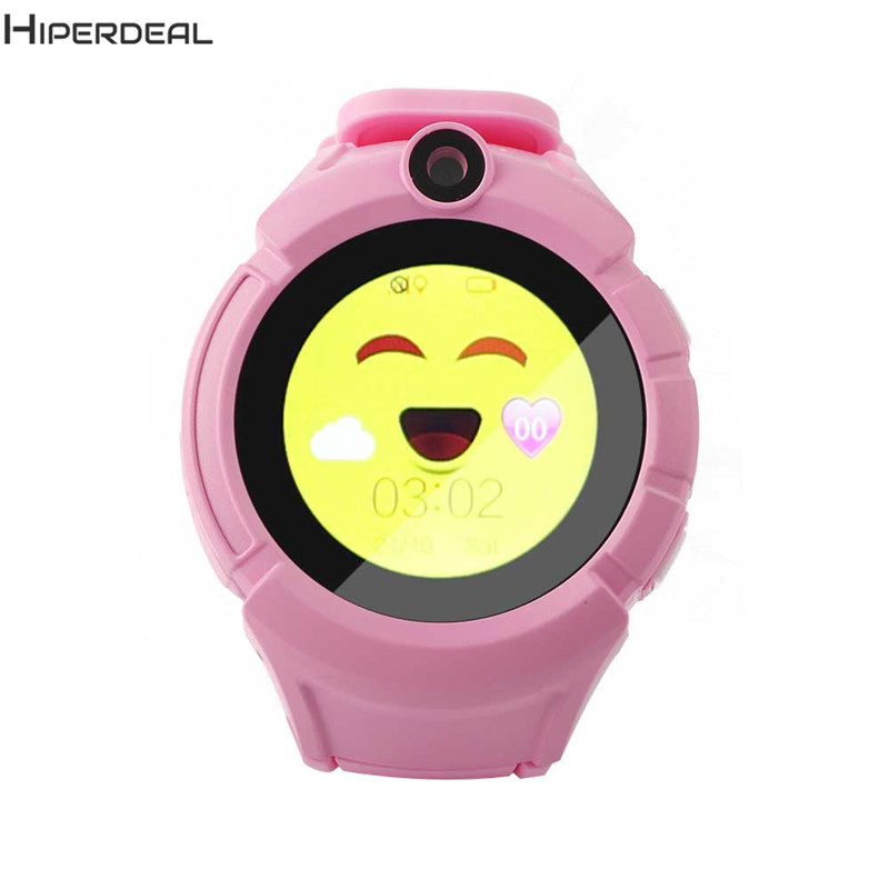 GPS Smart Kids Watch With Camera Pink Smart Baby Watch For Android Phone Smart Clock SOS Anti Lost Call Smart Electronics DE06b