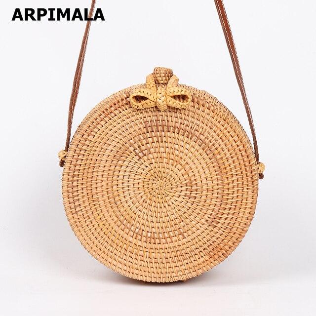 Handmade Summer Rattan Bag 1
