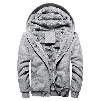 2020 New Men Hoodies Winter Warm Zipper Men Hoodies  4
