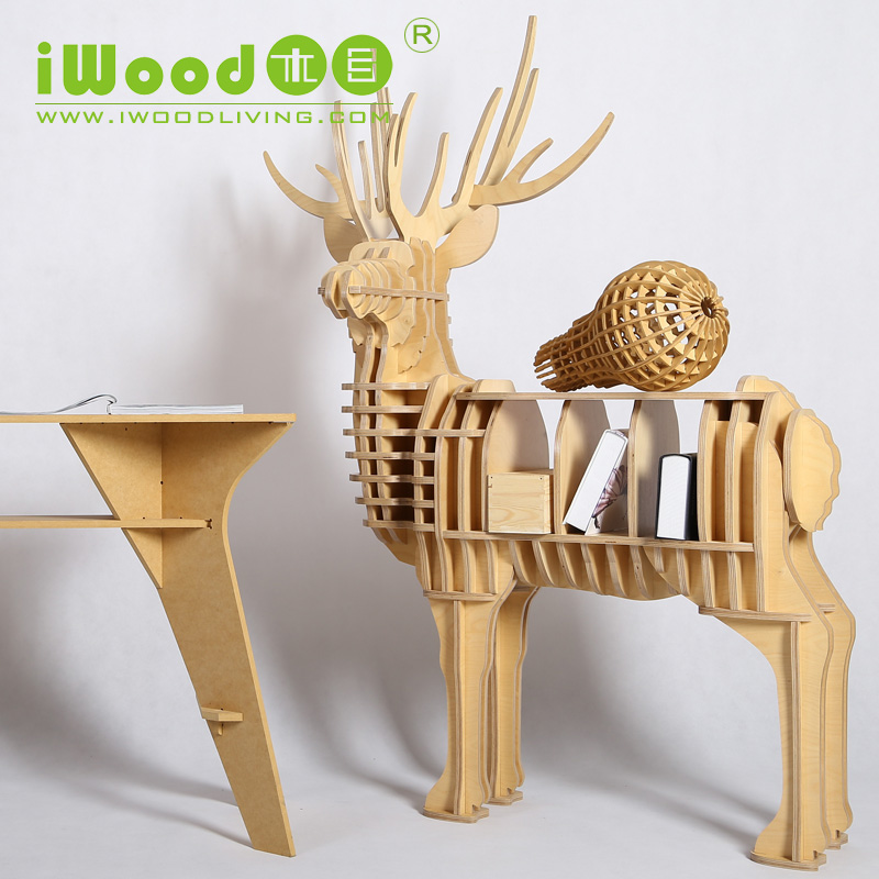 creative home furniture. aliexpresscom buy nordic elk wood shelving creative home decor european ornaments decoration deer simulation wooden crafts free shipping from furniture