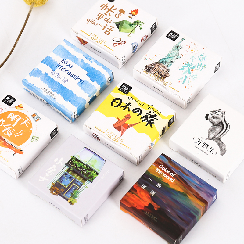 Creative Kawaii Animals Plants Scene Mini Paper Sticker Decoration Diy Ablum Diary Scrapbooking Label Stickers Kawaii Stationery
