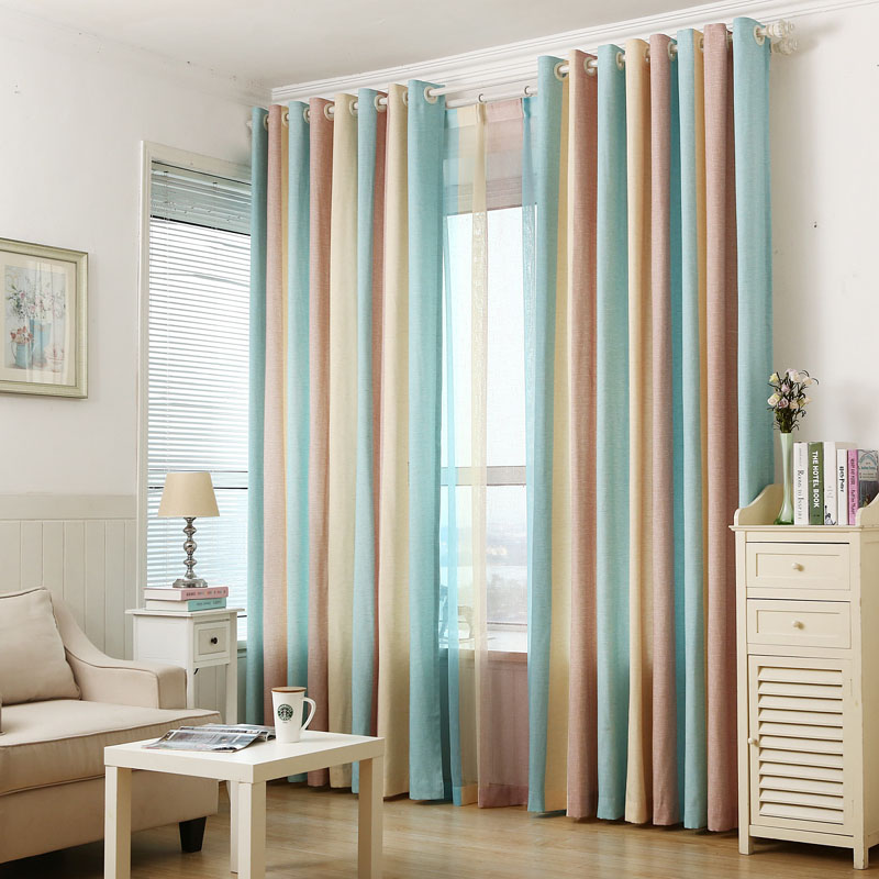 Superb Striped Printed Window Curtains For The Bedroom Fancy Children Modern  Curtains For Living Room Faux Linen