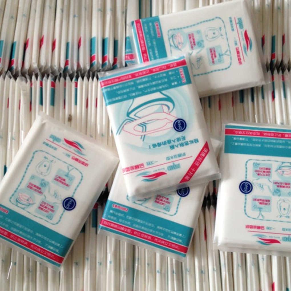 10 sztuk/paczka jednorazowy wodoodporny pokrowiec na deskę sedesową mata zdrowa wodoodporna papierowa podkładka na toaletę akcesoria do domu łazienka