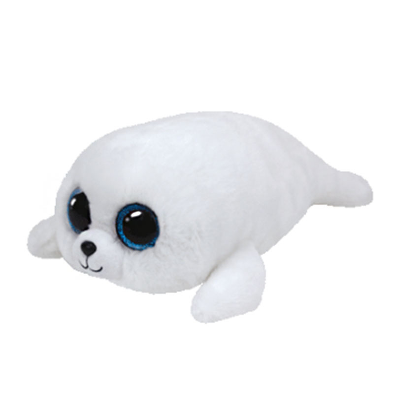 Liberal 30cm Ty Beanie Boos Icy The White Seal Plush Big-eyed Stuffed Animal Collectible Doll Toy With Heart Tag Plush Toy Doll Quality And Quantity Assured