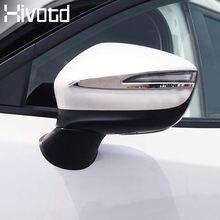 Histotd dla Mazda CX-3 CX3 akcesoria zewnętrzne drzwi boczne lusterko wsteczne pasek ABS chromowane wykończenie rama pokrywy Car Styling 2020