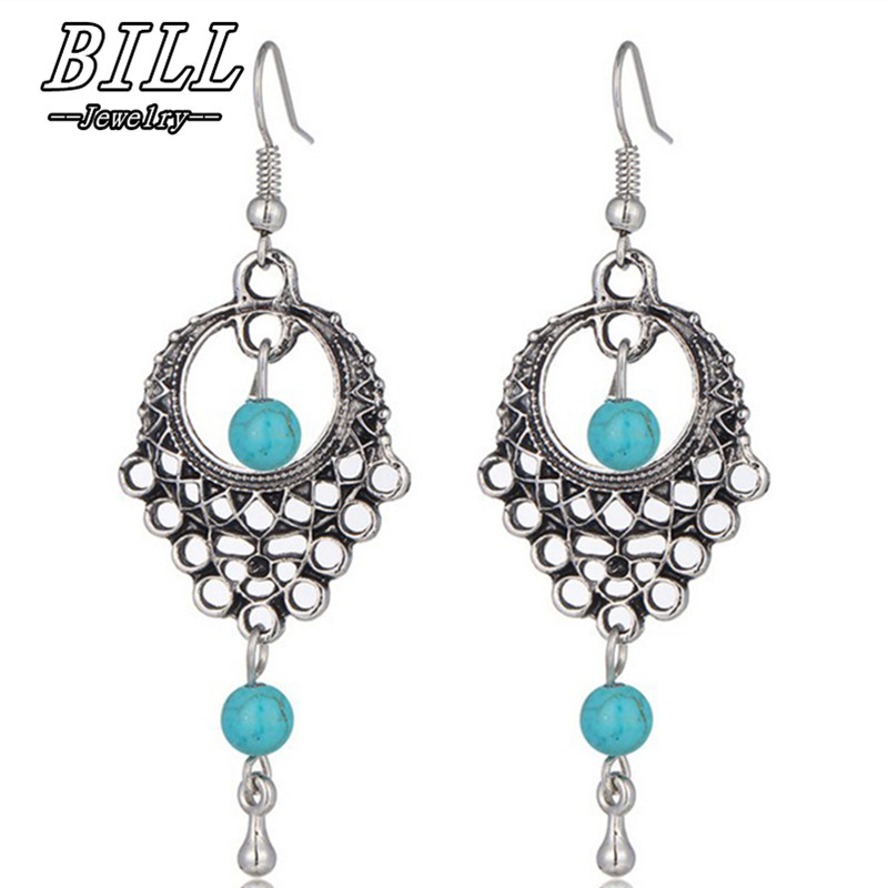 ES925 Brincos Women Boho Drop Dangle Carved Earring Vintage Ethnic Statement Beach Earrings Fashion Jewelry Charms Summer 2018