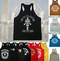 Golds Gym tanque Stringer Top Men ropa culturismo y Fitness hombre de camisa sin mangas chalecos deportivos de algodón Singlets Muscle Tops
