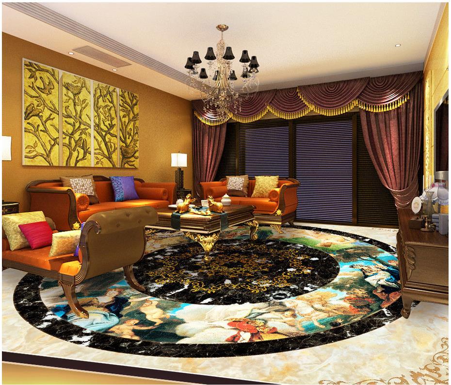 3D papier peint 3d sol peintures murales marbre PVC étanche sol personnalisé Photo auto-adhésif 3D étage décoration de la maison