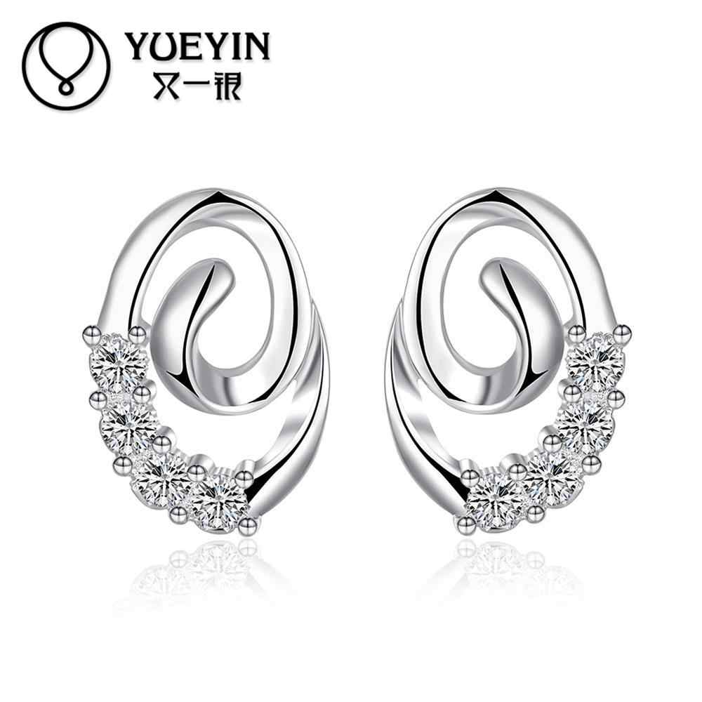 New Fashion Jewelry Silver plated earrings Trendy jewelry Luxurious Hot Sale jewelry High Quality Christmas gifts nausnice