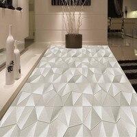 Free Shipping custom modern minimalist stereo geometric abstract pattern 3D floor painting wallpaper