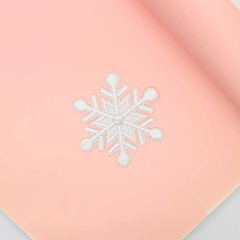 Hot saleปักแพทช์สำหรับเสื้อผ้า1ชิ้นเกล็ดหิมะเหล็กบนแพทช์พังก์A Pplique Motif DIYเสื้อผ้าสติกเกอร์ราคาถูก