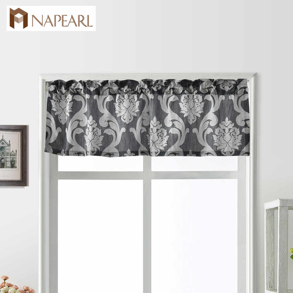 NAPEARL 1 Panel Decorative Valance European Luxury Jacquard Window Short Drapes