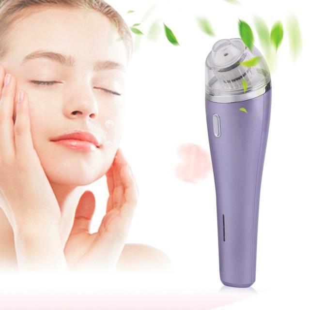 Remoção de Cabeça preta Poros Sucção Navalha Ferramenta de Beleza do Cuidado Da Pele de Limpeza Facial Máquina Da Beleza Eletrônico Roxo