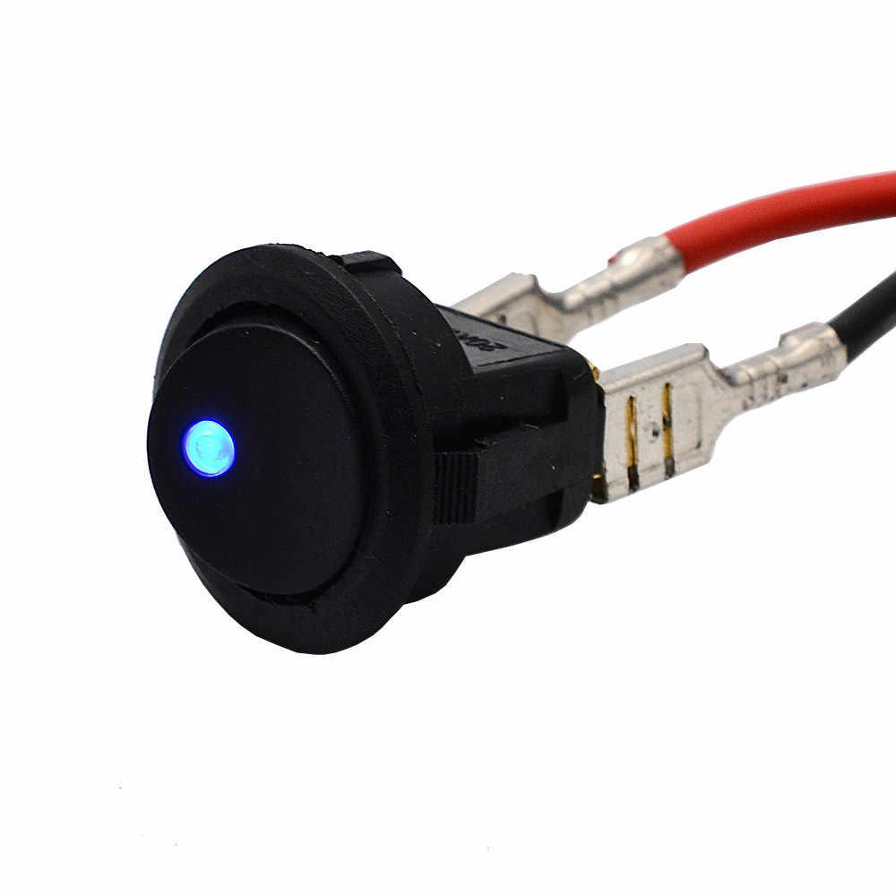 2019 для 5 X Синий светодиодный круглый точечный свет 12 в автомобильный лодочный зажим для автомобиля рычажный выключатель SPST продажа для honda crv 2008 civic 2006-2011 city
