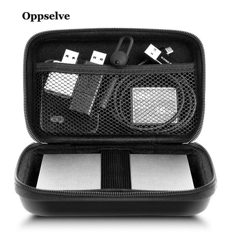 Oppselve External Storage Hard Case HDD SSD Bag For Hard Drive Power Bank USB Cable Charger Power Bank Earphone Case Accessories
