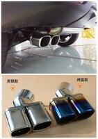 Para Nissan Qashqai 2014-2020 tampa do carro de aço inoxidável de escape ponta silenciador extremidade do tubo exterior dedicar cauda 1 pçs/set