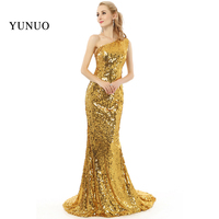 Hot Sale Real Photos Robe De Soiree Longue High Quality One Shoulder Sequin Sexy Mermaid Long Prom Dresses