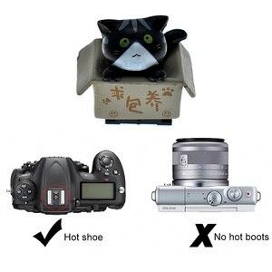 Image 4 - Gosear 3D kreskówka kot kształt gorącej stopki Hotshoe pokrywa dla Nikon Canon Fujifilm Samsung Panasonic Leica Olympus