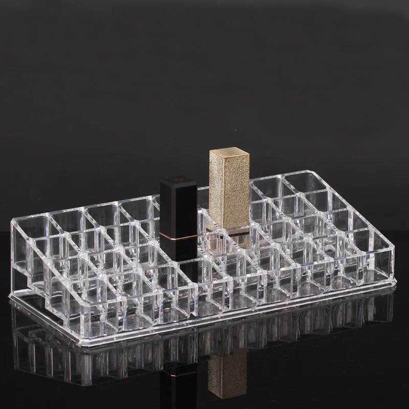 Acrylic Lip Gloss Holder 36 Slots Lipstick Box Display Stand Sundry Storage Box Cosmetic Makeup Organizer Lipstick Holder Case