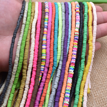 4x1mm Flat Round Handmade Round Polymer Fimo Clay Chip Disk Loose Spacer Beads For  DIY Jewelry Making Necklace Bracelet Finding borosa 10pcs rainbow handmade bracelets polymer clay beads fimo slices plastic thin disc elastic string bracelet jewelry hd0090