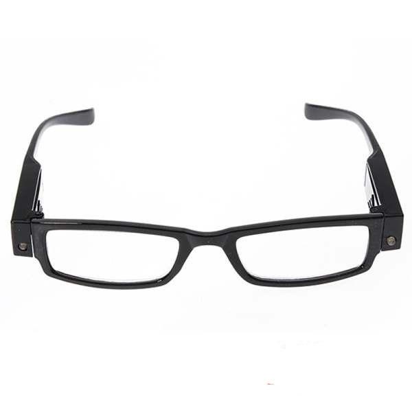 f82a7470f7 Gafas para leer LED lupa lente de aumento para la presbicia negro, dioptría  + 2.5 en De los hombres gafas de lectura de Accesorios de ropa en  AliExpress.com ...