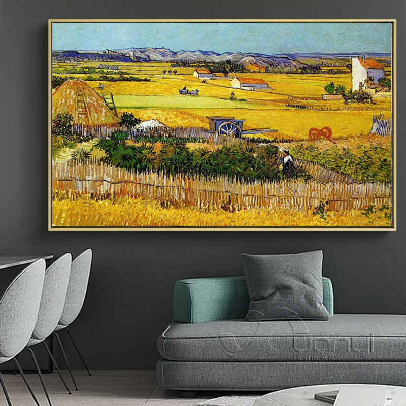 Arles Harvest Season Van Gogh Handmade Painting Reproductions Handpainted Oil Painting Abstract For Bedroom Wall Decor Unframed