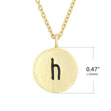 2019 Double Side Tiny Black  Letter H Pendant Necklaces women zinc alloy link chain pendant necklace jewelry no 3 stylish zinc alloy scorpion pendant necklace brass black