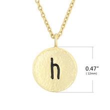 2019 Double Side Tiny Black  Letter H Pendant Necklaces women zinc alloy link chain pendant necklace jewelry acorn shaped silicone chain zinc alloy pendant necklace black copper multi colored