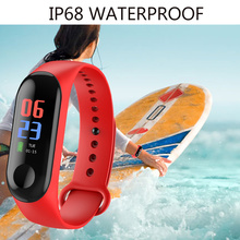Colour Screen Waterproof Running Fitness Watch Calorie Heart Rate Monitoring step counter