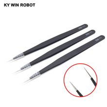 1PCS ESD-11 Anti-static Curved Straight Tip Forceps Precision Soldering Tweezers Set Electronic ESD Tweezers Tool