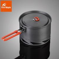 Fire Maple 1 2 Person Heat Exchanger Camping Pot Set Outdoor Cookware Cooking Pot 1 5L