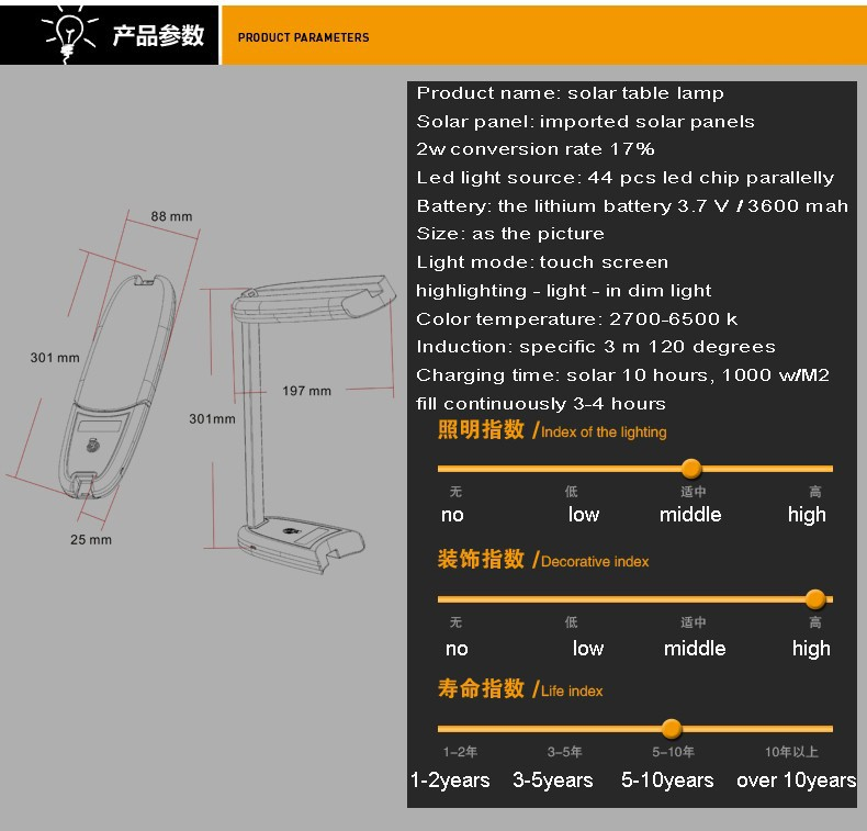 High Quality 5w solar light