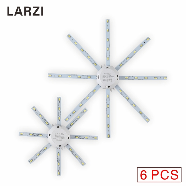 LARZI 6PCS LED Ceiling Light AC 220V LED Bulb 12W 16W 20W 24W SMD 5730 Board Light PCB Board Octopus Tube Energy Saving Lamp