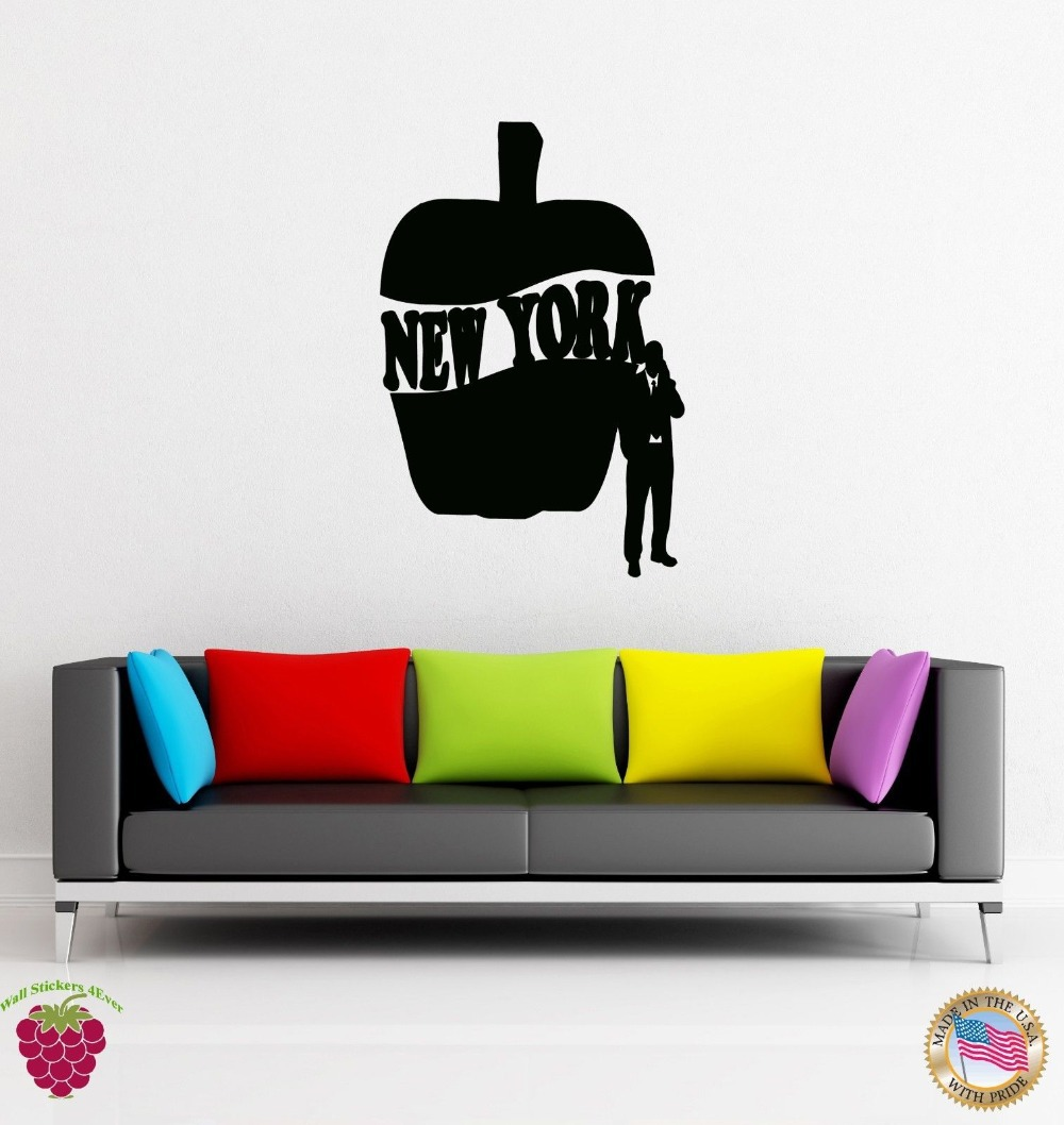 Wall Sticker New York Big Apple City Words Cool Decor for Your Place