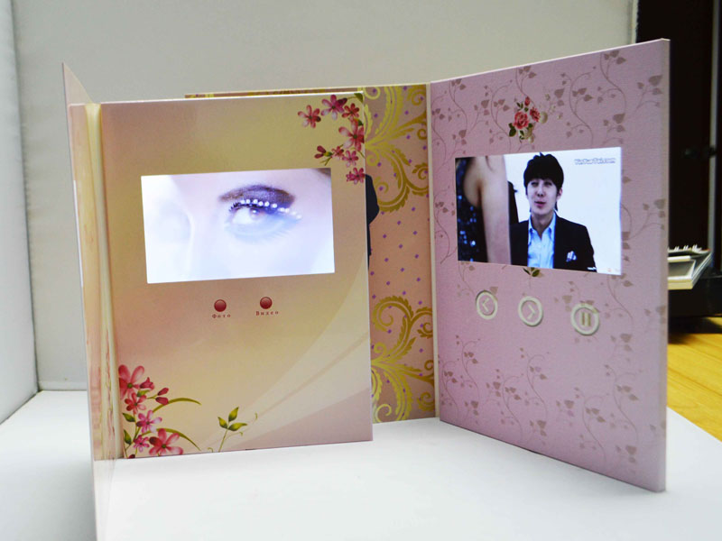E Card Wedding Invitation: Lcd Video Greeting Brochure Card For Business Promotion