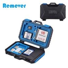 лучшая цена Mini Portable Waterproof Memory Card Case Card Reader+22 in 1 Storage Box for 1Standard SIM+2Micro-SIM+2Nano-SIM+7SD+6TF+1CARD